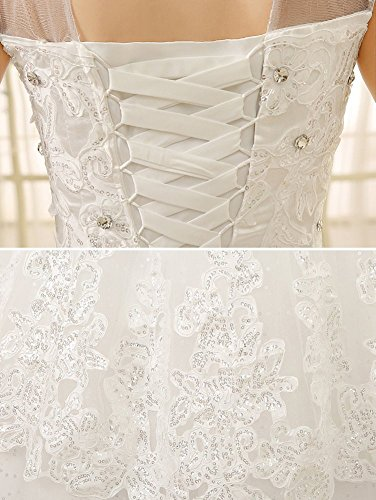 Beaded Appiques Dresses Stand Wedding Tulle Drasawee Gowns Bride Collar Sequins IZvc5xH