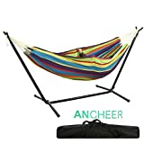 Introduction A hammock with stands makes it much more functional and gives it more usability. Ancheer® free standing hammock can be set up wherever you want, and it is highly portable so you can use it either outdoor or indoor without any trouble. Hi...