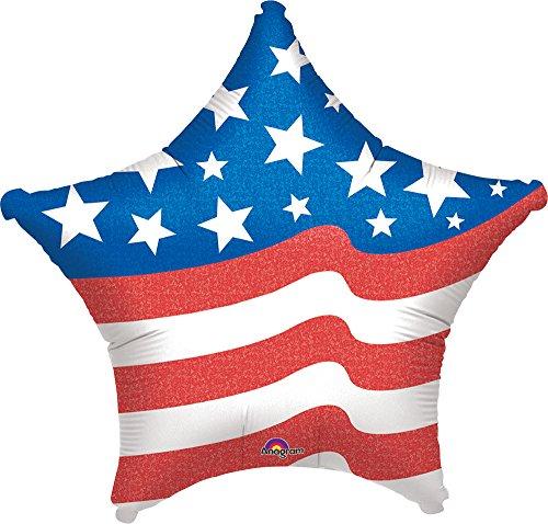 Anagram International Patriotic Star Foil Balloon, 19