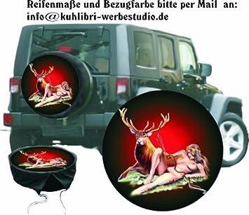 Funda para rueda de repuesto protectora Wild Diseño Diana Diosa De La Caza Para Caza-Fans para su Jeep: Amazon.es: Coche y moto