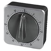 Xavax 00095303 Reloj de repisa o sobre Mesa Mechanical Table Clock Negro, Plata - Relojes de Mesa (1 Pieza(s), 6,5 mm, 6,5 mm, 4,5 mm, Analógica)