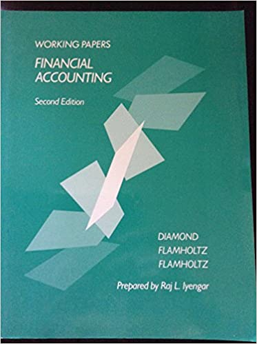 Financial Accounting Working Papers To 2re Michael A Diamond