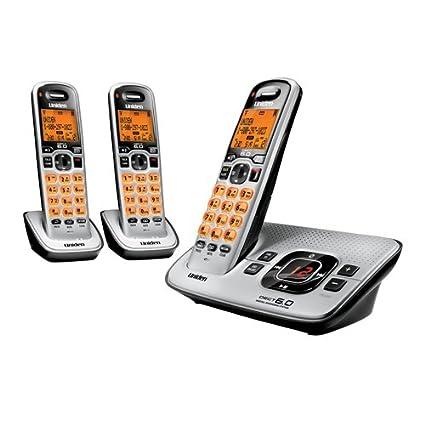 amazon com uniden d1680 3 cordless phone answering system with 3 rh amazon com