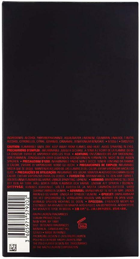 Polo Red Extreme by Ralph Lauren Eau De Parfum Spray 6.7 oz / 200 ...