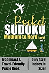 Pocket Sudoku: Medium to Hard Level - A Compact & Travel-Friendly Sudoku Puzzle Book, Only 4x6 Inches in Size! (Volume 2) Paperback