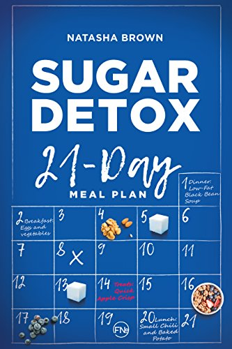 "Sugar Detox. 21-Day Meal Plan: Overcome your sugar craving with these great ""bad"" sugar free recipes! (Weight Loss Book 2) by [Brown, Natasha, Publishing, French Number]"