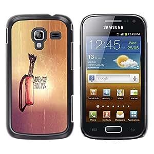 CASEX Cases / Samsung Galaxy Ace 2 I8160 Ace II X S7560M / Werewolf Hunting # / Delgado Negro Plástico caso cubierta Shell Armor Funda Case Cover Slim Armor Defender