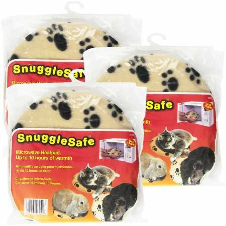 3 Pack SnuggleSafe Microwave Heat Pad (Pet Bed Microwavable Warmer)
