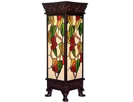 Tiffany estilo lámpara de pie Europea retro romano uva ...