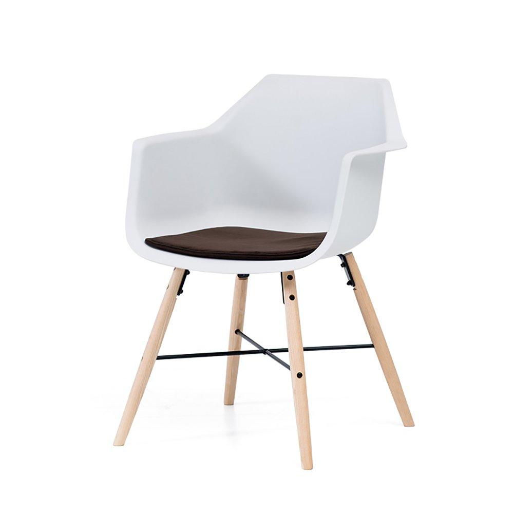 白ダイニングチェア世帯西洋レストランリビングルーム寝室スタディーオフィスウッドモダンシンプルな背もたれの椅子 (色 : ブラウン ぶらうん, サイズ さいず : Set of 1) B07F25L676 Set of 1 ブラウン ぶらうん ブラウン ぶらうん Set of 1
