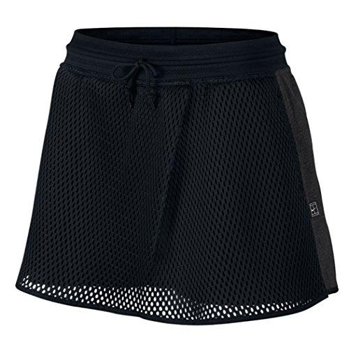 NIKE Womens Tennis Court Mesh Skirt Shorts Black/Grey Skort (X-Large) ()