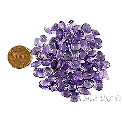 Wholesale 100 + Carats mix Amethyst, Loose Faceted Stones, Amethyst Mix, AAAmazing Cut and Quality, Mix Gems, Mixed Gemstone