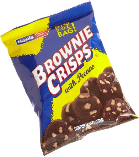 Basil's Brownie Crisps with Pecans, 3-Ounce Packages (Pack of 48) (Brownie California Chocolate)
