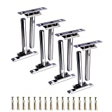 Floating Shelf Brackets - 8 Pack Floating Blind Invisible Shelf Bracket Support Hardware Adjustable Blind Shelf Concealed Mount For Home Wall DIY