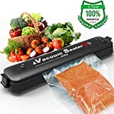 Vacuum Sealer Machine,Vacuum Sealer for Food Preservation with 15 Sealing Bags,Food Sealer Machine,Dry