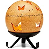 Comfort Candles Serenity Pavilion Gift Includes Tea Light Candle and Stand, 6-1/2-Inch, Butterfly Pierced Round