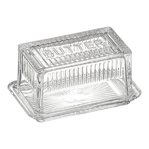Butter Dish Square for 1 Lb Butter Clear Reproduction Depression Glass #800-26 - Depression Glass Dish