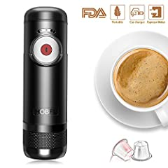 Espresso Machine Portable Automatic Boils Water 15 Bars Pressure One-Button Operation Travel Outdoor Coffee MakerFeatures: √ Having a perfect coffee on-the-go,enjoy the peace of your mind.Every espresso loving person needs this. √ It makes a ...