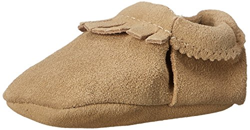 Moc Natural (Hanna Andersson Baby Bootie Moc Fringe Baby Moccasin (Infant/Toddler), Natural Suede, 3 M US Infant)