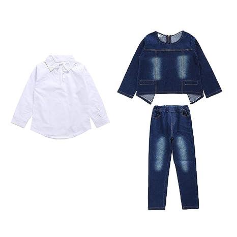 Conjunto de ropa de pantalones de mezclilla para niñas Gilrs ...