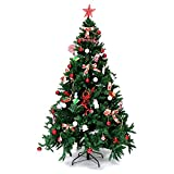 7Ft Artificial Christmas Tree PVC Stand Pine Tree Indoor Holiday Decor +eBook