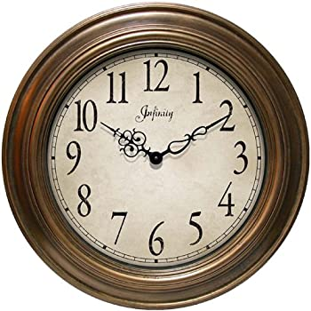 "Infinity Instruments Athenaeum- 24"" Resin Wall Clock"