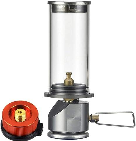 GYFHMY Lámpara de butano de Gas al Aire Libre Manto de Vidrio ...