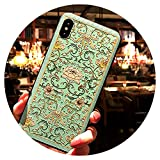 Silicone Frosted Soft Shell 3D Embossed carvings Three-Dimensional Phone case for iPhone,771,for iPhone