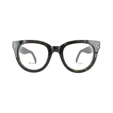 Celine Eyeglasses 41379 0086 Dark Havana at Amazon Men\'s Clothing store: