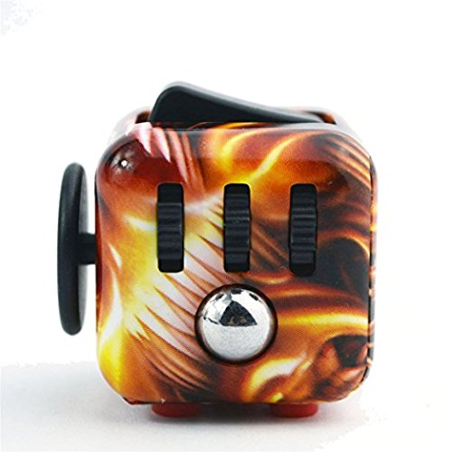 CPEI Anxiety Attention Toy Spinner Fidget Cube for Children and Adults ,Flame