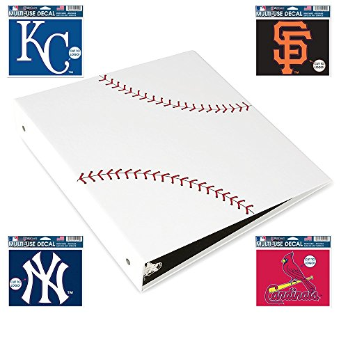 Baseballz 3-Ring Binder - Textured Baseball Card Holder - Baseball Card Binder - Perfect Present for Baseball Fans