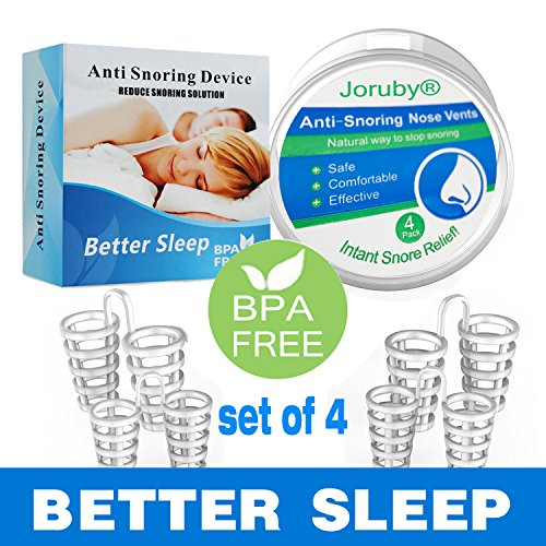 2018 UPGRADED Anti Snoring Aids Snoring Solution Snore Reducing Nose Vents for Natural and Comfortable Sleep