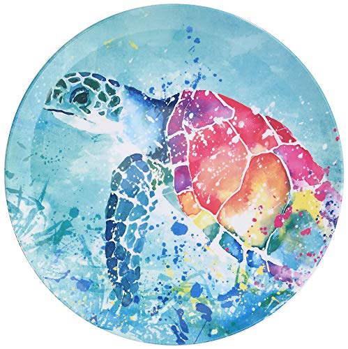 Tropix Splash Sea Turtle Dinner Plate One Size Blue/pink/orange/yellow