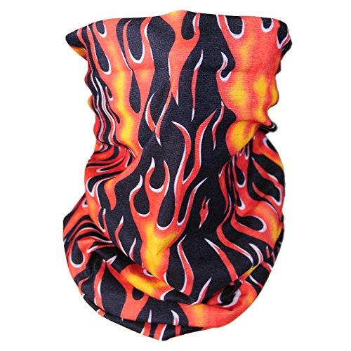 Triple9 Automotive Gear Balaclavas Seamless Face Mask Bandanas (1pk Flame)