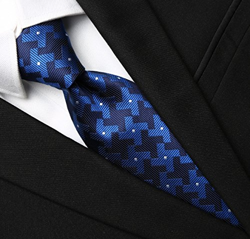 KissTies Extra Long Necktie Men Dutch Windmill Tie in Gift Box, Blue (63'' XL) (Extra Long Ties)
