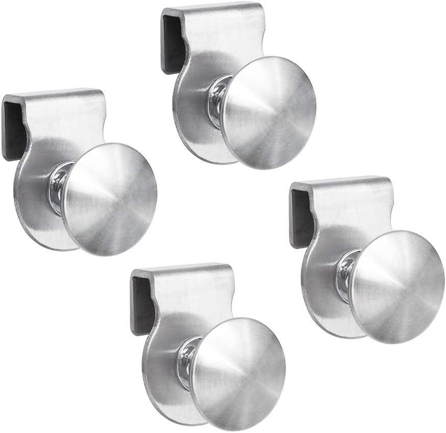 INCREWAY - Tirador de puerta de cristal (4 unidades, sin perforaciones, para puertas de cristal de 5 a 8 mm)