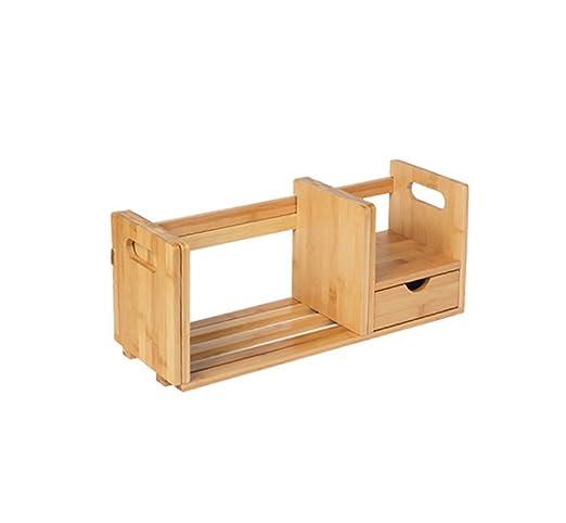 ZMSJ-YJ Estantería/Mesa Estantería de bambú Estudiante Niños ...