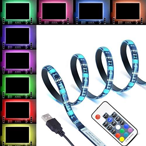 XERGY® 5V USB LED LED Flexible Strip Multicolor Options/Mode TV Background Lighting 5050 RGB IP65 400 cm- 30 LED/M with…