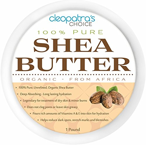 Shea Butter Jar (Organic Shea Butter - Raw & Unrefined - Premium Quality - Grade A - Ivory African Shea Butter - for Skin, Hair, Stretch Marks and DIY Skin Care - Resealable Jar for Easy Storage - 1 Pound)