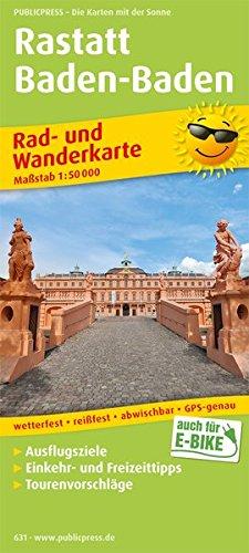 Rastatt, Baden-Baden: Rad- und Wanderkarte mit Ausflugszielen, Einkehr- & Freizeittipps, wetterfest, reißfest, abwischbar, GPS-genau. 1:50000 (Rad- und Wanderkarte / RuWK)