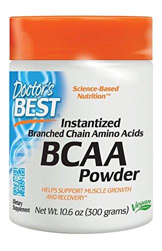 Doctor's Best Instantized BCAA Powder, Non-GMO, Gluten Free, 300 Grams by Doctor's Best