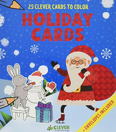 Holiday Cards: 25 Clever Cards to Color + Envelopes Included]()