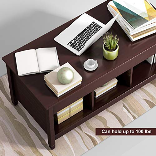 home & kitchen, furniture, living room furniture, tables,  coffee tables  discount, TANGKULA Coffee Table Lift Top Wood Home Living Room Modern Lift Top Storage Coffee Table w/Hidden Compartment Lift Tabletop Furniture (Brown) deals1