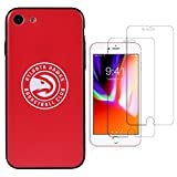 Sportula NBA Phone Case give 2 Tempered Glass Screen Protectors - Extra Value Kit for iPhone 8 / iPhone 7 (Atlanta Hawks)