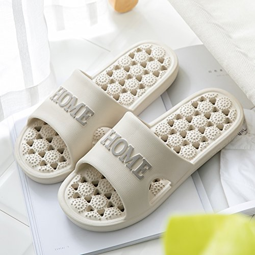 fankou In The Summer and a Bath Room Slippers Women Indoor Stay Non-Slip Plastic Leakage Massage Couples Cool Slippers Male Summer,40/41 Code in The Light of Their Card - Men's