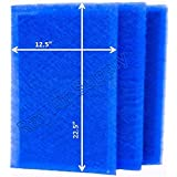 StratosAire Air Cleaner Replacement Filter Pads 14x25 Refills (3 Pack) BLUE