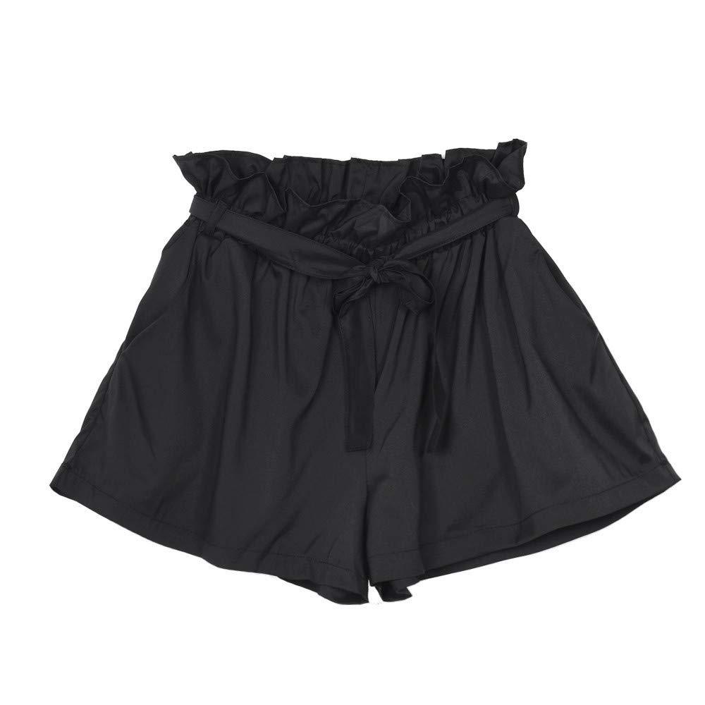 Schwarz Khaki, S-XL Kurze Hosen Damen Sommer Shorts High Waist L/ässige Gem/ütlich Solide Kurze Hosen Freizeithose Beachshort Sporthose Taillen-kurze Hosen Bermuda Shorts Hotpants Strandshorts