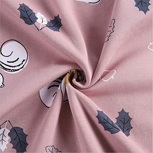 Notte Pigiami Meaeo Vestiti Maniche Da A Da Camicia Casa Photo Stampata Color Moda Rosa Addormentati Corte Pigiami Pigiami qnAEAFO