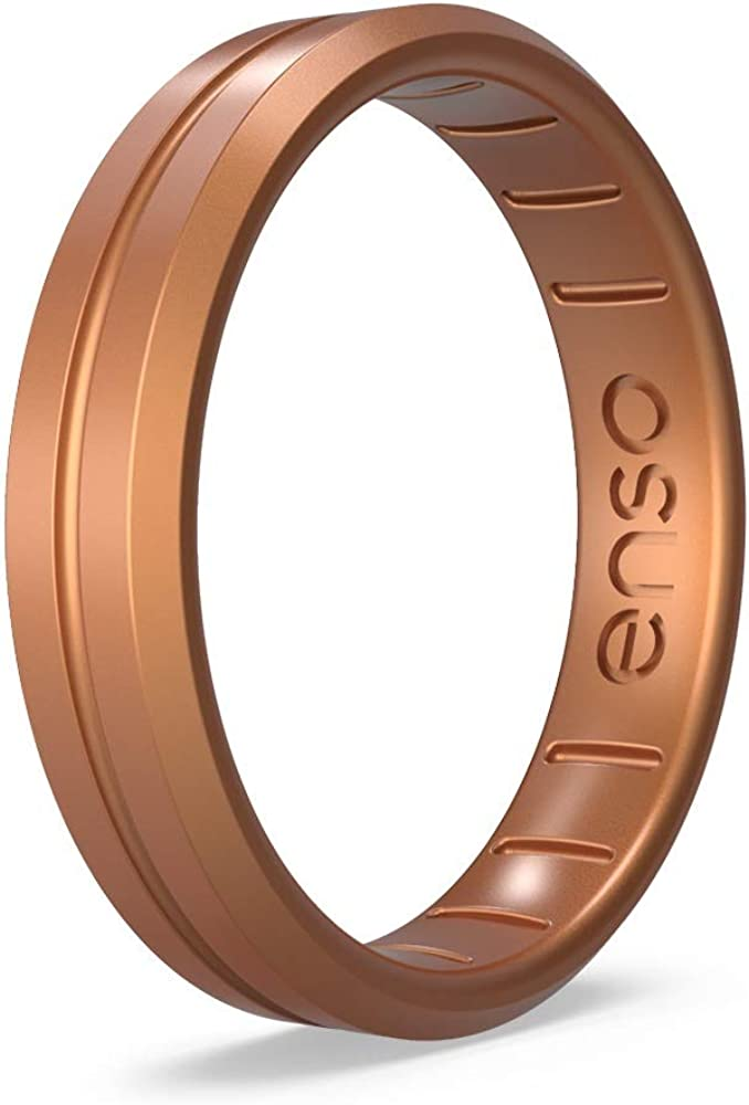 Lifetime Quality Promise The Premium Fashion Forward Silicone Ring Enso Rings Thin Contour Silicone Ring Handmade in The USA