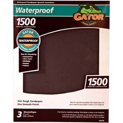 ALI INDUSTRIES 4470 1500 Grit Sandpaper, 9-Inch x 11-Inch, 5 sheets